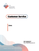 TTI Success Insights Customer Service online assessment report cover - Customer Service assessment - TTI Performance Systems online assessments