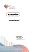 Executive online assessment report cover - CEO, CEOs, business owners, business owner, management, senior managers, decision makers, Executive, executive - TTI Performance Systems - TTI DISC assessments