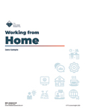 Working from Home - working from home online assessment report cover page sample - TTI DISC assessment, Working From Home PLUS, Working From Home management, working from home, Working From Home management, Working From Home plus- TTI Performance Systems - TTI